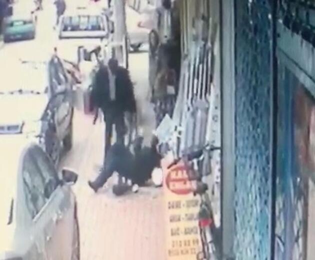 Sokak ortasında cinayet güvenlik kamerasında