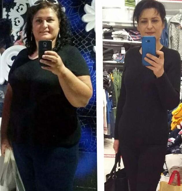 İlaç kullanmadan 8 ayda 48 kilo verdi