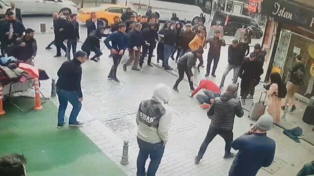 Fatih'te İranlı silahlı gaspçıları vatandaşlar yakaladı; Olay anları kamerada