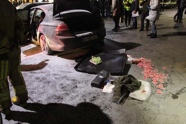 Art arda araçlara çarptı! Polis linçten kurtardı