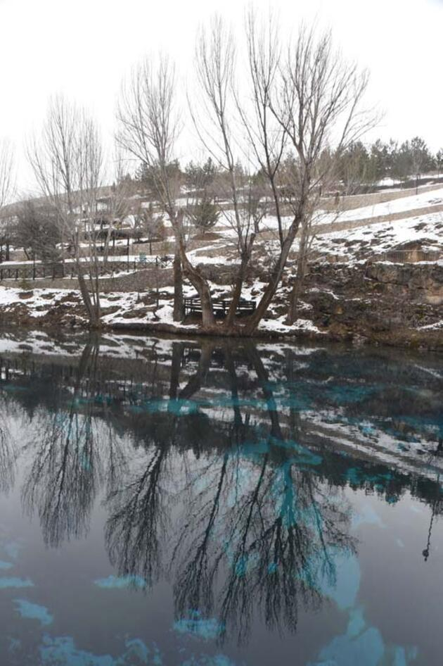 Sivas'ın kışın donmayan tek gölü, Gökpınar