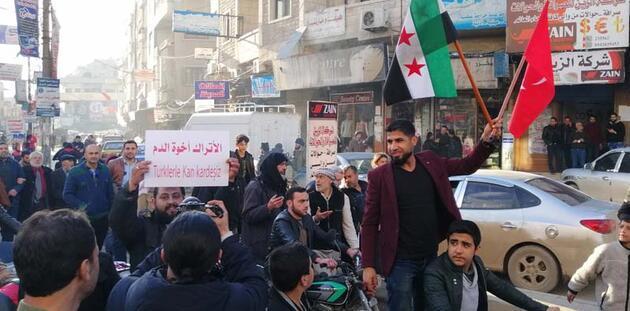 İdlib'de Türkiye'ye destek