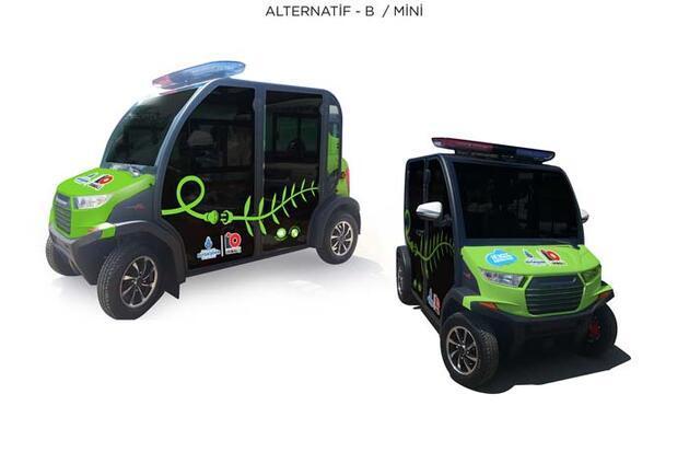 Adalar'da kullanılacak elektrikli araçlar satın alındı