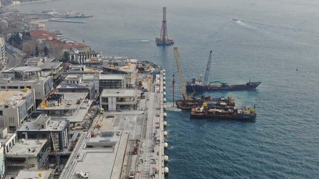 Galataport'ta sona doğru... İlk kruvaziyer gemi Nisan'da geliyor