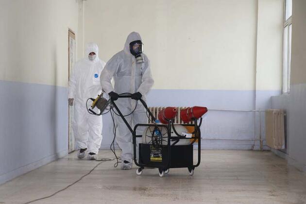 517 okul dezenfekte edildi