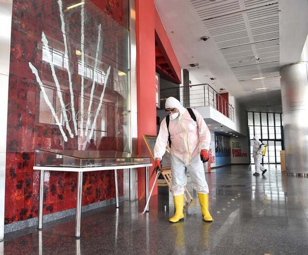 CHP Genel Merkezi, dezenfekte edildi