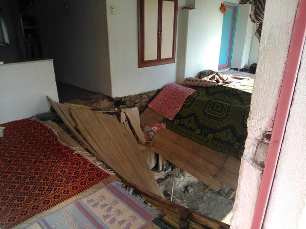 Düğün evinin zemini çöktü