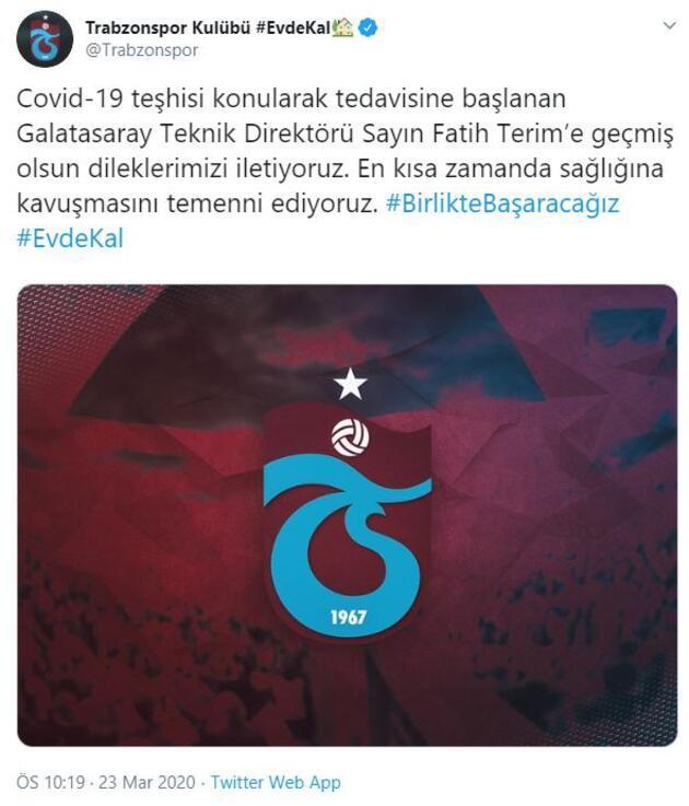 Fatih Terim'e destek mesajları