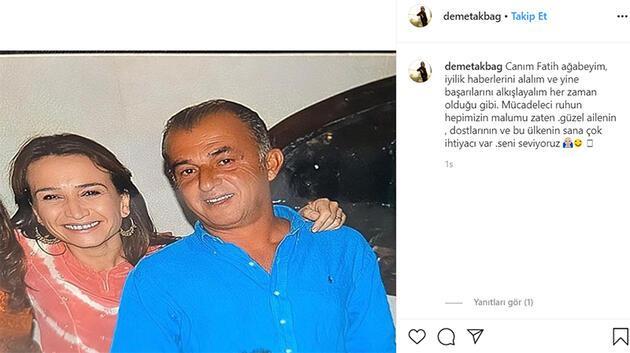 Demet Akbağ'dan Fatih Terim paylaşımı