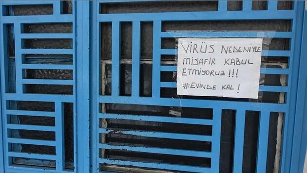 Apartman sakinlerinin virüs tedbiri; misafir kabul etmiyorlar