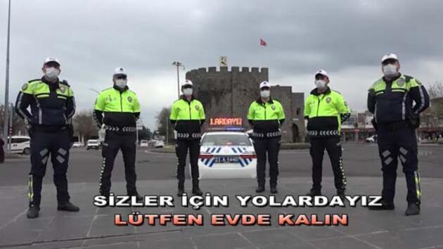 Diyarbakır polisinden 'evde kal' klibi