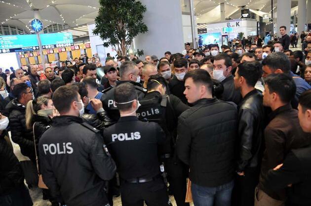 İstanbul Havalimanı'nda bekletilen yabancı yolcular otobüslerle Karabük'e gönderildi
