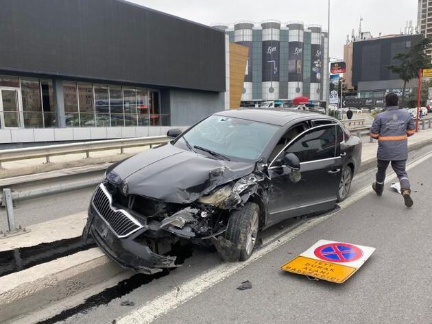 Kadıköy D-100 Karayolunda zincirleme kaza