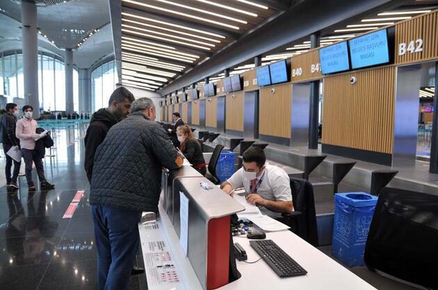 """İstanbul Havalimanı'nda """"seyahat izin belgesi"""" düzenlenmeye başladı"""