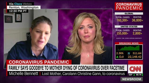 Canlı yayında duygusal anlar: Koronavirüs hastası annesine hemşire sayesinde veda etti