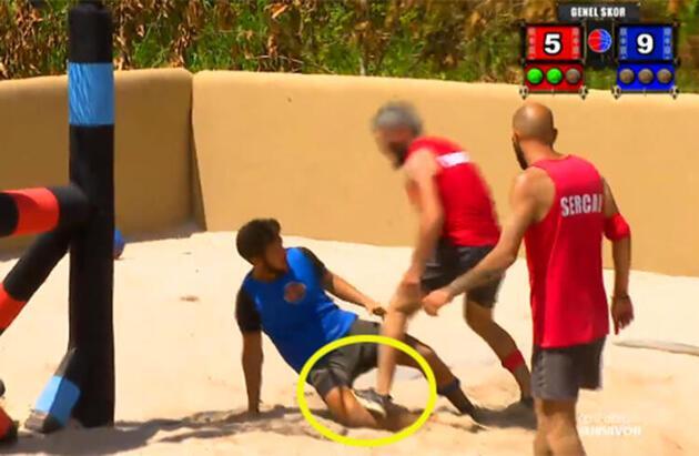 Survivor'da ödül oyununda kavga! Parviz diskalifiye edildi