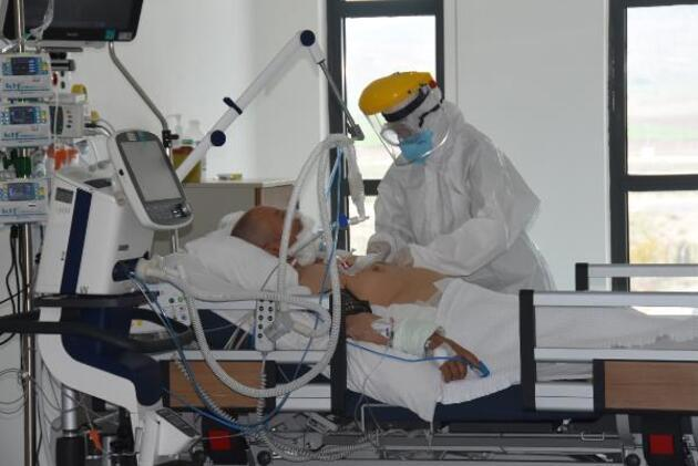 Eskişehir'de koronavirüs yoğun bakımı görüntülendi
