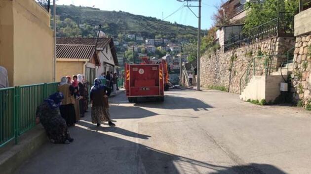Yangın çıkınca mahalleli sokağa döküldü