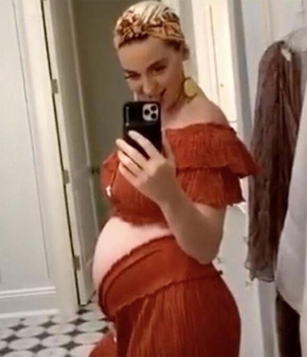 Hamile şarkıcı Katy Perry son halini paylaştı