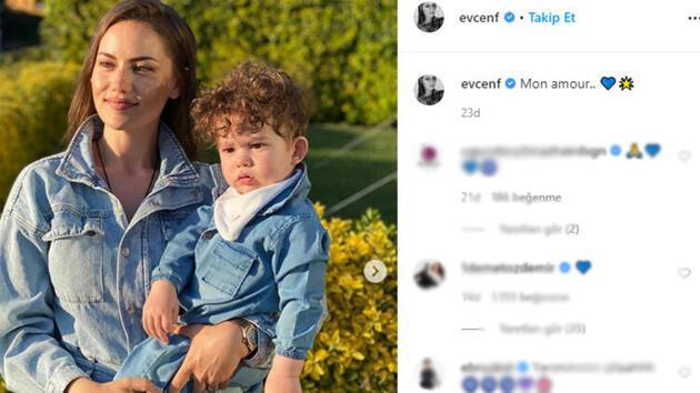 Fahriye Evcen'in oğlu Karan'la yeni paylaşımına beğeni yağdı