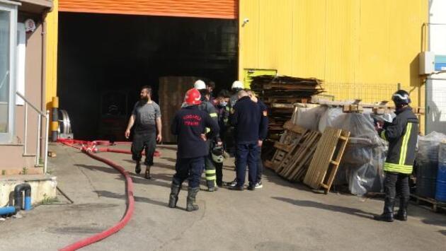Fabrikada boya tankı patladı; 3 işçi yaralandı