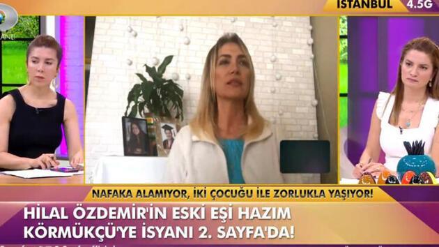 Hilal Özdemir canlı yayında gözyaşlarına boğuldu: Nafaka alamıyorum!