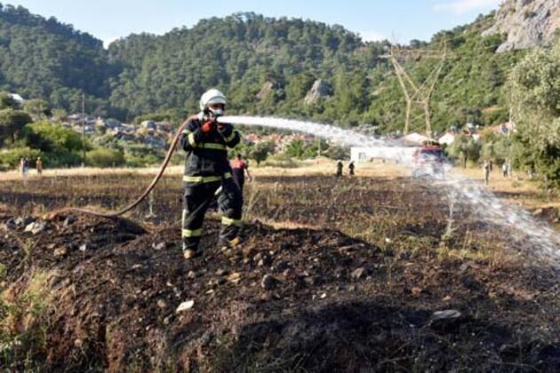 9 bin metrekarelik alanda yangın çıktı