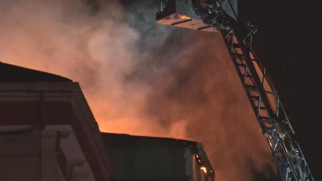 Küçükçekmece'de 4 katlı binada yangın