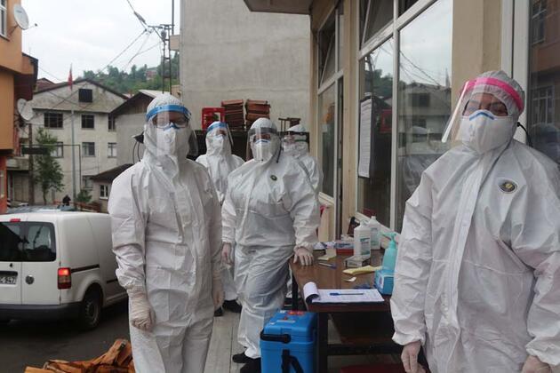 Çay üreticilerine koronavirüs testi yapılıyor