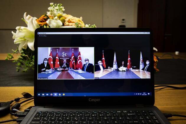 AK Parti ve CHP video konferans ile bayramlaştı