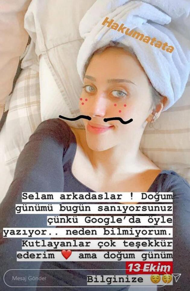 Zeynep Alkan'dan doğum günü açıklaması