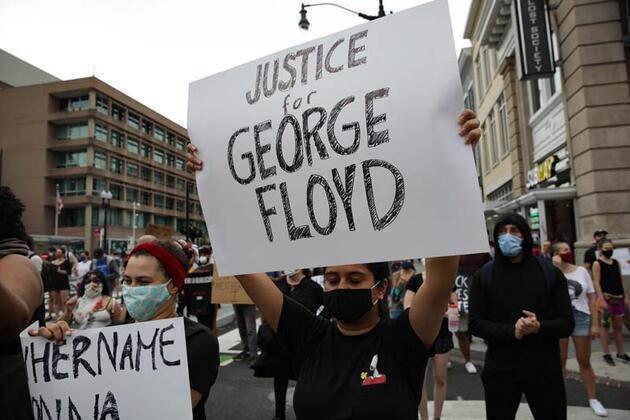 """Protestolar Washington DC'ye de sıçradı: """"Adalet yoksa huzur yok"""""""