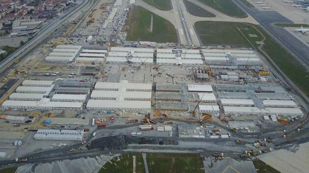 Yeşiköy'deki hastanenin yapım aşamaları adım adım böyle görüntülendi