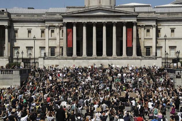 ABD'deki eylemler İngiltere'nin başkenti Londra'ya da sıçradı