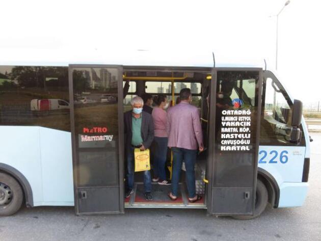 Fazla yolcu taşıyan minibüs şoförü yolcuları suçladı