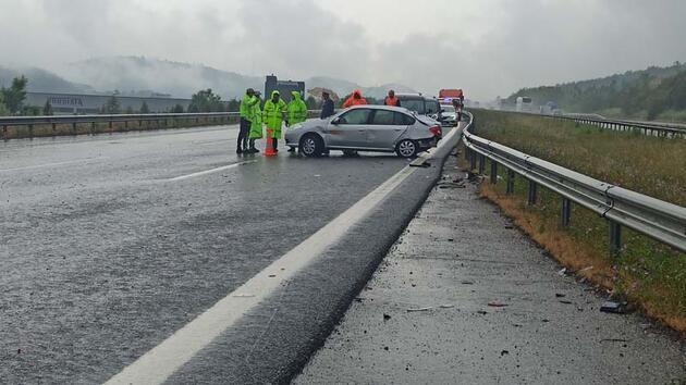 TEM'de 2 ayrı zincirleme kaza: 25 araç hasar gördü