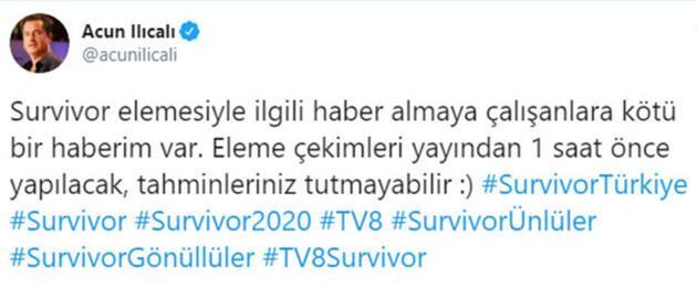 'Survivor 2020'de kim elendi? Acun Ilıcalı'dan iddialara yanıt