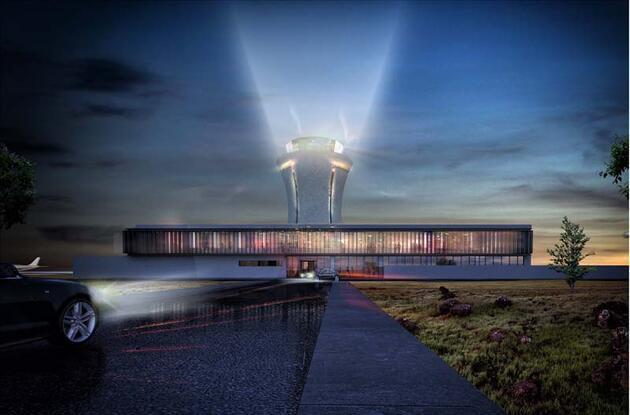 Rize-Artvin Havalimanı'nın kulesi 'çay bardağı' şeklinde olacak