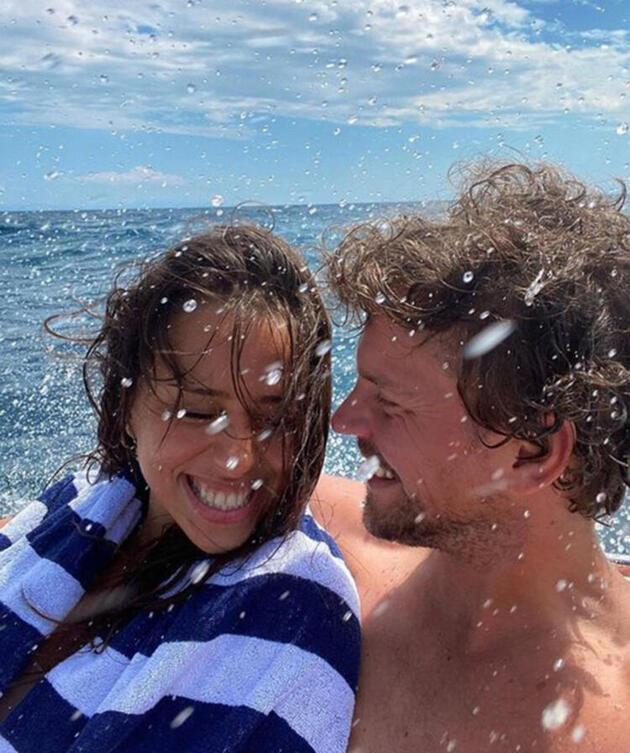 Zeynep Alkan sevgilisiyle tatilde