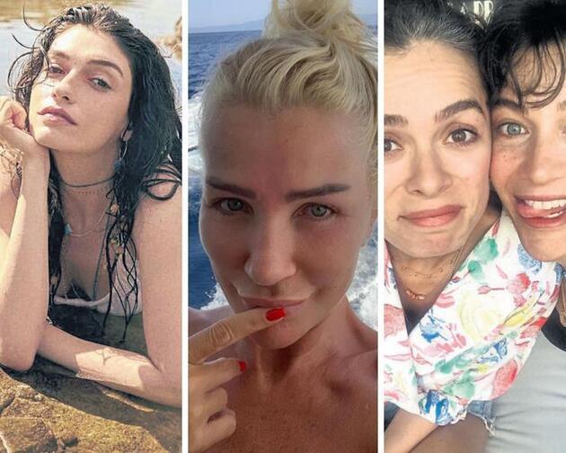 Plajların makyajsız ünlüleri