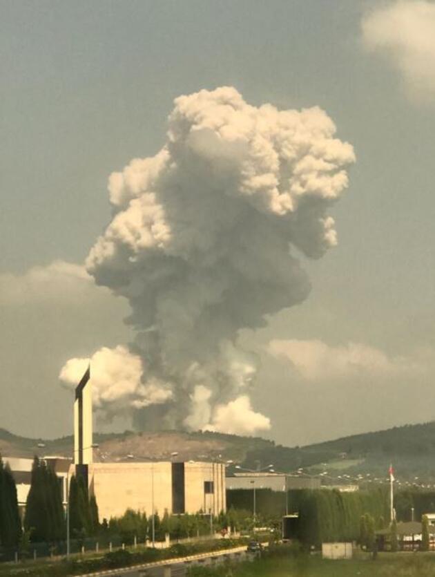 Son dakika... Sakarya'daki patlamadan sonra ilk görüntüler