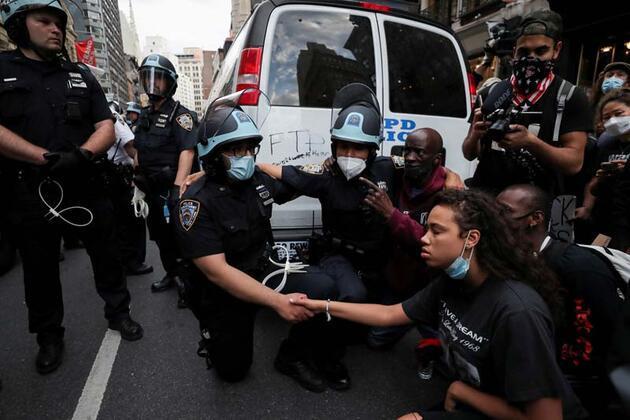 ABD'de 'George Floyd' gösterileri tarihe geçti