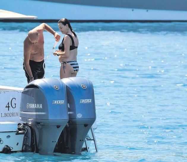 Seda Güven ve eşi Ali Güzel, Bodrum tatilinde