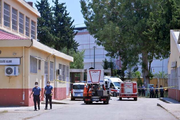 Lisede dezenfektan üretimi sırasında patlama: 2 öğretmen yaralandı