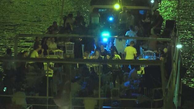 Son dakika... Koronavirüse aldırmadan Haliç'te yat partisi düzenlediler
