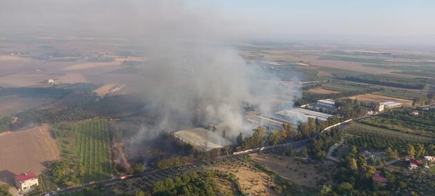 Çiftlik yangını havadan ve karadan müdahaleyle söndürüldü