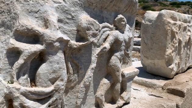 Son dakika... 3 bin yıllık Knidos Antik Kenti'nde yapılar yeniden yükseliyor