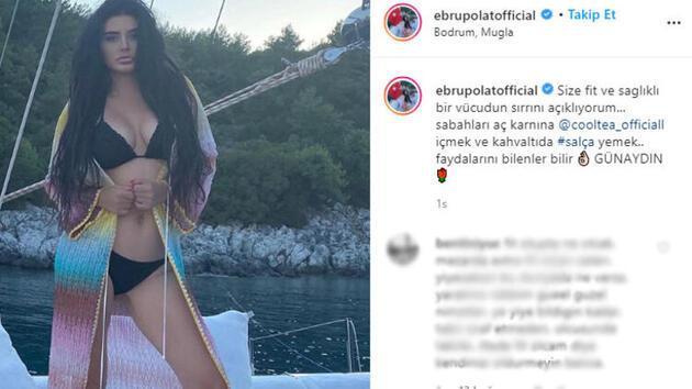 Ebru Polat fit vücudunun sırrını verdi