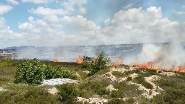 Son dakika... İstanbul'da otluk alanda yangın