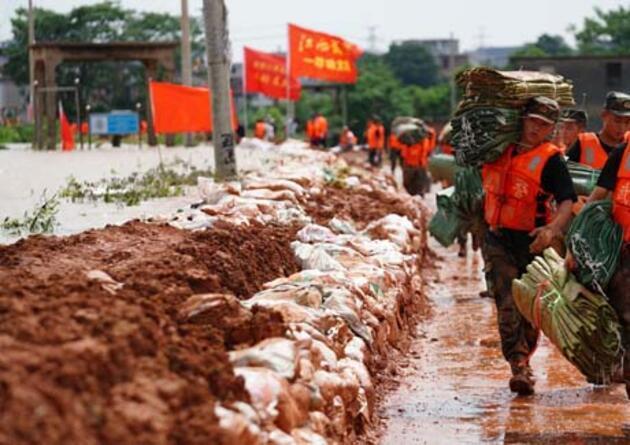 Çin'de kırmızı alarm! Sel uyarısı yapıldı